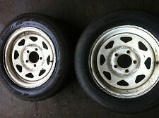 2xtrailer rims and tyres