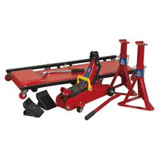 Sealey JKIT01 Lifting Kit 2t (Inc Jack,Axle Stands,Creeper,Chocks,Wrench)