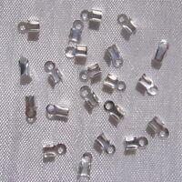 10 pinces cache-noeuds 10mm acier inoxydable embouts cordon non allergique *IN16