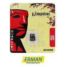 MEMORY CARD MICRO SD HC KINGSTON 16 GB CLASSE 10 - CONFEZIONE ULTIMA VERSIONE