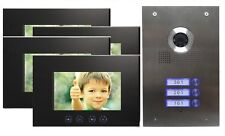 3-familienhaus Video Door Phone Stainless Steel Camera Bell with 4 Monitors