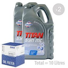 Engine Oil and Filter Service Kit 10 LITRES Fuchs TITAN SYN MC 10w-40 10L