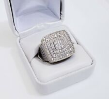 BUST DOWN TWO TONE FINE PINKY RING 14KT VVS1 DIAMOND CLARITY CRYSTALS HAND MADE
