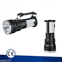 Lampe Torche Rechargeable Solaire & Secteur 230V à Led Camping Chasse Pêche