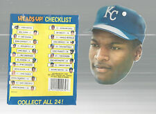 Bo Jackson Heads Up Baseball Kansas City Royals Topps 1990 #8 Of 24 Suction