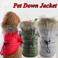 Winter Warm Pet Clothes Small Dog Coats Chihuahua Puppy Soft Fur Hooded Jacket