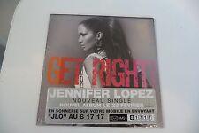 JENNIFER LOPEZ CD SINGLE NEUF EMBALLE. GET RIGHT.