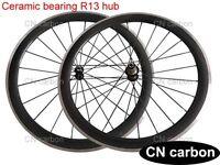R13 Ceramic bearing hub 50mm Clincher carbon bike wheels Alloy brake surface