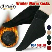 3 Pairs Women Winter Socks Cashmere Thick Warm Casual Thermal Hiking Socks US