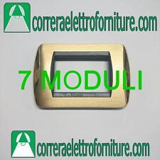 Placca CAL per BTICINO LIVING OTTONE LUCIDO + OTTONE SATINATO 7 MODULI  CL645/7