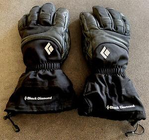 Mens Black Diamond Gore Tex Leather Gloves Large