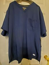 Nwt-Mens Skechers Scrub Top Navy Blue Size Xl-1 pkt structure crossover V-neck