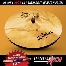 "Zildjian A Custom 14"" Mastersound Hi Hat Pair + FREE Vater Hickory Drum Sticks!"