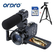 1080P Fhd 24Mp 16X Digital Video Camcorder Camera Dv With Microphone+Tripod+32Gb