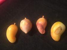 Alabaster/ Marble Miniature Fruit - four (4) individual pieces