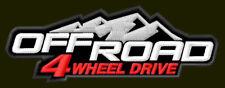 "OFF ROAD 4 WHEEL DRIVE EMBROIDERED PATCH ~4"" x 1-1/4"" JEEP HONDA SUBARU SUZUKI"