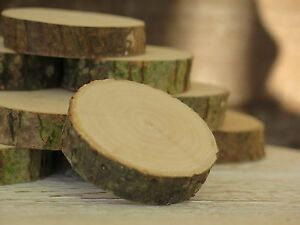 10-100 Wood Tree Slices 3-10cm Rustic Wedding Table Craft Decor Natural logs Eco