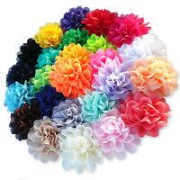 Large Pastel Tone Fabric Flower Hair Clips Grips Bobbles Bridesmaid Pompom Bride