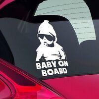 Cool Baby on Board Funny Joke Novelty Car Bumper Window Sticker Decal Gift White