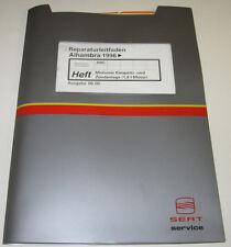 Werkstatthandbuch Seat Alhambra Motor Zündanlage Anlage Motronic 1,8 Liter 1996!