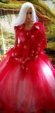 PRISHA Indian Lehenga Inspired Lace & Tulle Bridal Wedding Ballgown Set