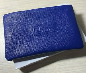 DIOR Makeup Cosmetic Bag Pouch BLUE Vip Gift RARE