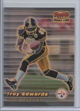 1999 BOWMAN'S BEST TROY EDWARDS ROOKIE REFRACTOR #rd 400