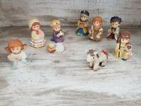 Adorable Miniature Kids Nativity Christmas Scene Set of 9 Pieces Wise Men Jesus