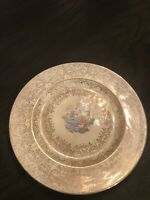 """Vintage Lacayette China Warranted 22 Kt Gold Homer Laughlin Plate 11"""""""