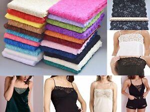 1 Yard of 15cm Wide Elastic Stretch Lace Trim Ribbon Fabric Crafts Sewing DIY