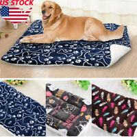 Cute Pet Dog Cat Bed Cushion Mat Pad Kennel Crate Cozy Warm Soft House S-XL