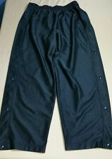 Vtg 1980s Nike Swoosh Warm Up Poly Track Pants Baggy Ribbed Tear Away Snap XXL