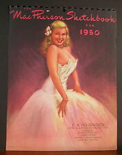 Earl MacPherson Sketchbook Calendar Glamour Cover Page 1950 Blond Evening Gown