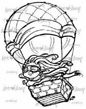 LITTLE DARLINGS Rubber Stamps UP UP & AWAY LD3006 Hot air Balloon
