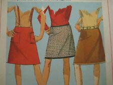 Vtg Simplicity  Hip Hugger A-Line Skirt Sewing Pattern Women 5 Junior 6595