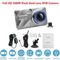 Full HD 1080P Car Dash Dual Lens DVR Camera Driving Video Recorder Night Vision