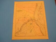 Antique 1895 Stuart's Atlas Map Page Gardner Maine Waterville Hollowwell Windslo