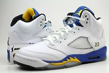 NIKE AIR JORDAN 5 RETRO GS LANEY SZ 6Y  White Varsity Maize Black 440888189