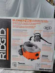 RIDGIDO 4 Gal. 6.0-Peak HP Wet Dry Vacuum w /Detachable Böler Fine Dust Filter