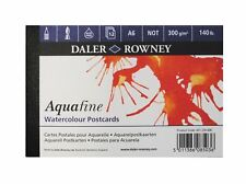 Daler Rowney Aquafine 300gsm Watercolour Art Paper - A6 Postcards - 12 Sheets