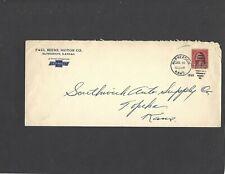#660 2c OVERPRINT PAUL REEME MOTOR CO.,McPHERSON,KS TO TOPEKA,KS JUL 16-1929