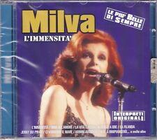 CD ♫ Compact Disc MILVA ~ L'IMMENSITÀ ~ LE PIÙ BELLE DI SEMPRE nuovo
