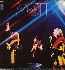 "MOTT THE HOOPLE ""LIVE"" ORIG HOLL 1974 VG+/EX KILLER LP"