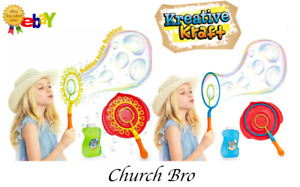 KreativeKraft Bubbles For Kids, Giant Bubble Wand With Bubble Mixture