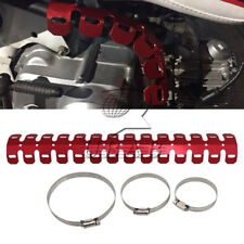 60cm Universal Motor Exhaust Muffler Pipe Leg Protector Heat Shield Cover Red