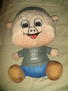"""2014 Piggly Wiggly 12"""" Stuffed Plush Mr. Pig Mascot 1st Edition Shop The Pig"""