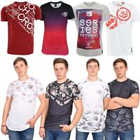 Crosshatch Mens T Shirt Round Neck Short Sleeve Shirts Sublimation Tee S-2XL