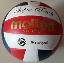 Authentic 100% Molten Super Touch USA Volleyball Official Ball IV58L-3 US Seller