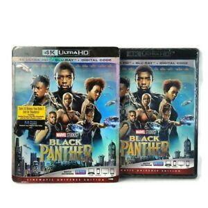 Black Panther (4K Ultra HD + Blu-ray + Digital Code, 2018)(Chadwick Boseman) NEW