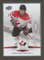 (71078) 2014-15 UPPER DECK TEAM CANADA JUNIORS JONATHAN DROUIN #100